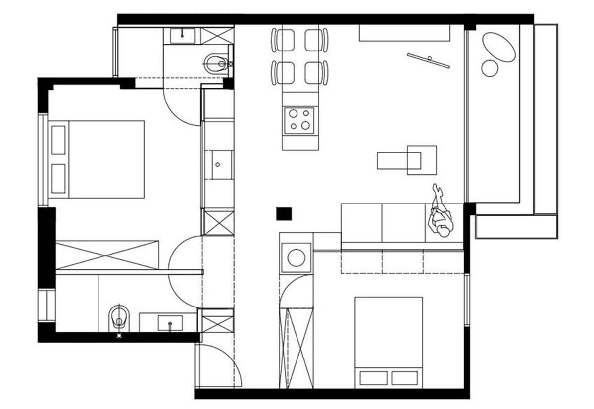 план-схема на съвременен апартамент