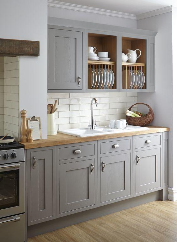сив цвят в кухнята