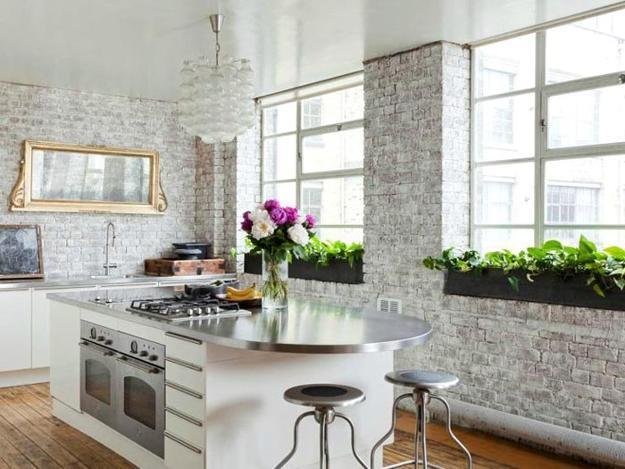 тухлени стени кухня