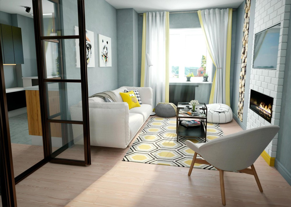 Bright yellow living room ideas for Bright yellow bedroom ideas