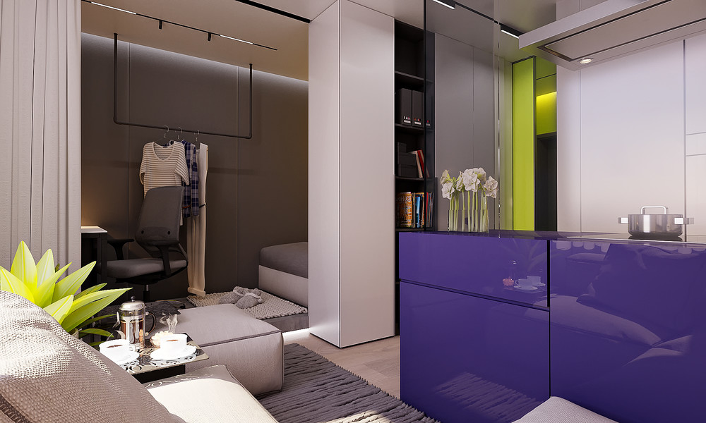 малък ярък апартамент