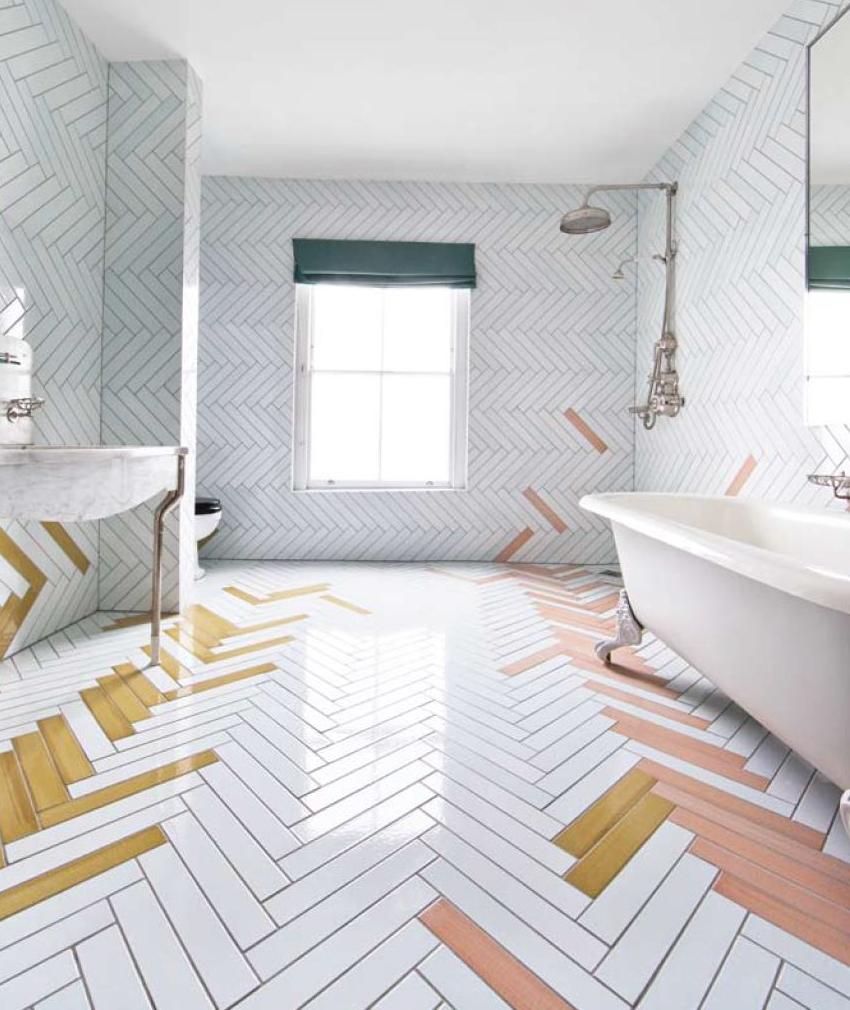 идеи за плочки в банята