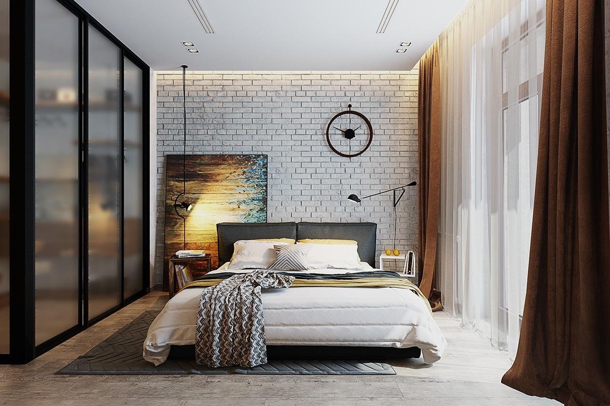 стената в спалнята