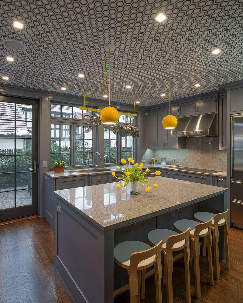 кухни в сиво и жълто