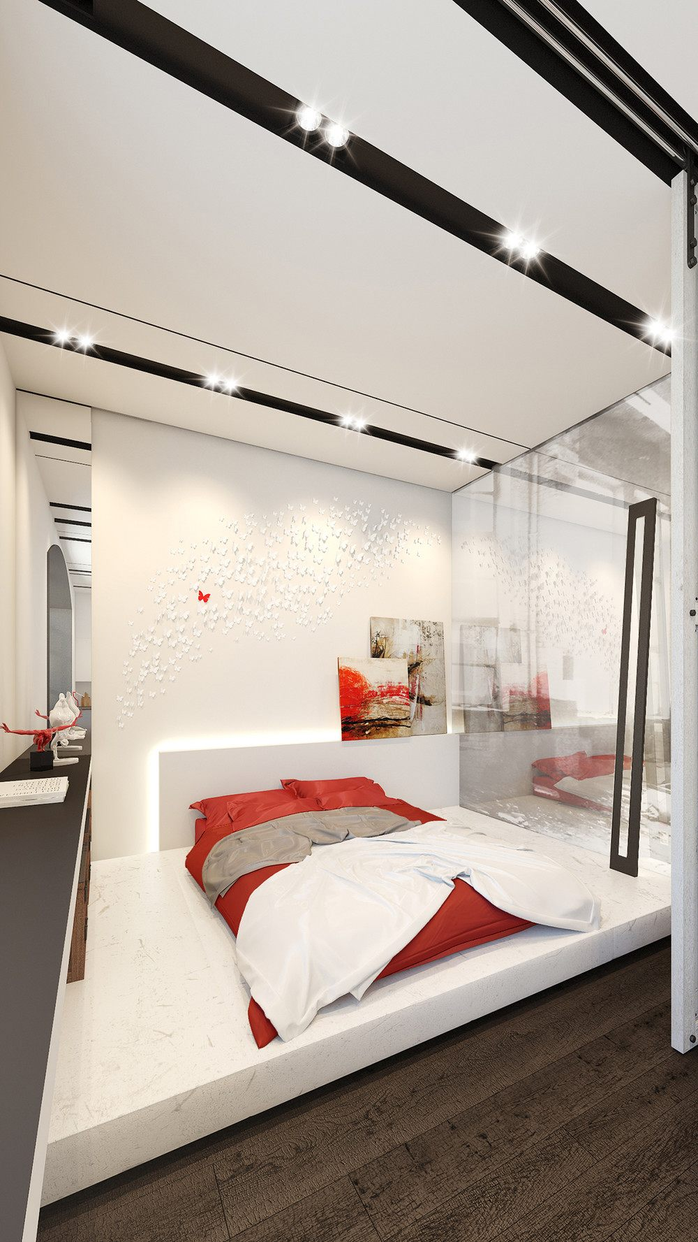 red-and-white-bedroom-design