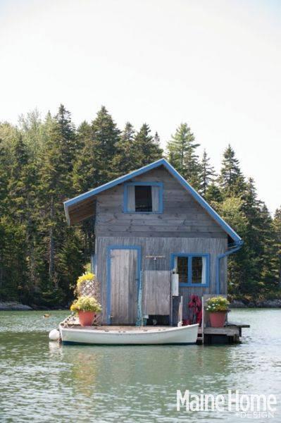 плаваща къщичка