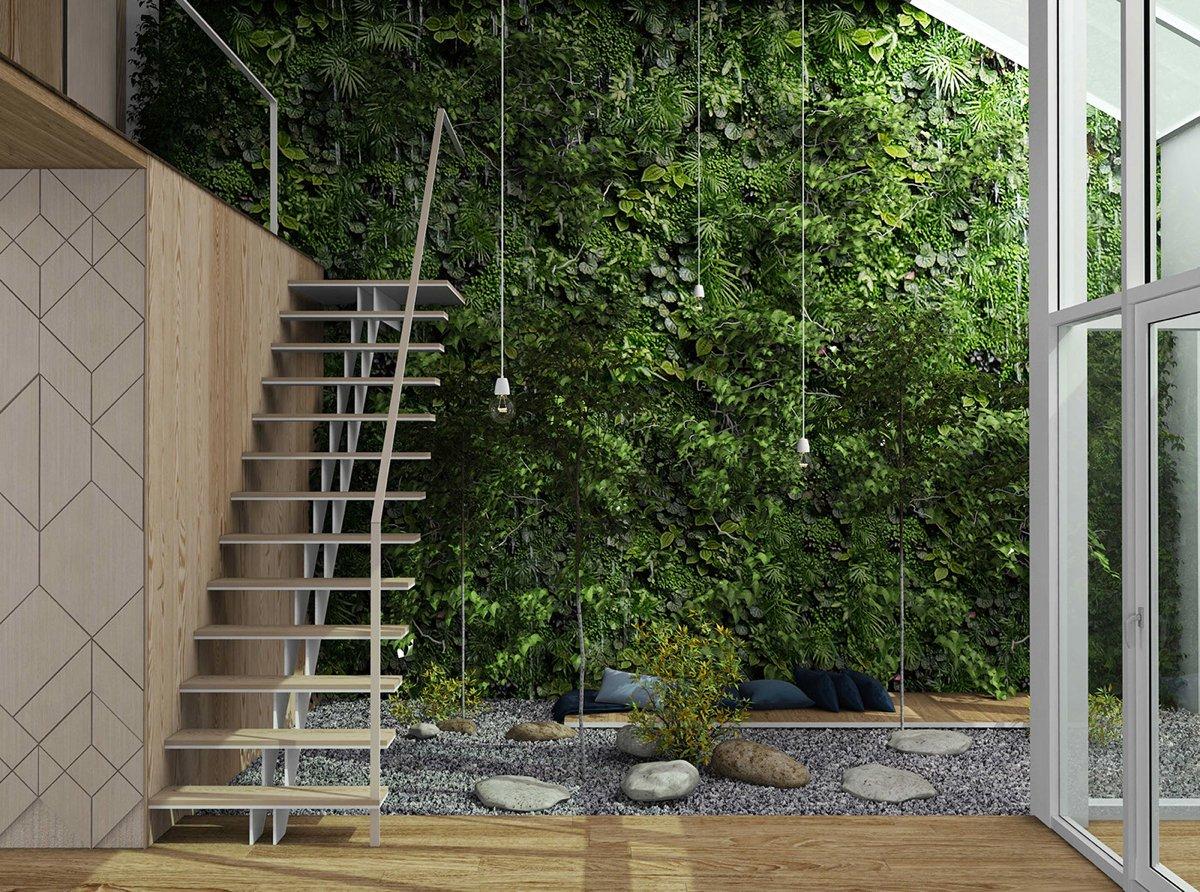 зеленина в интериора