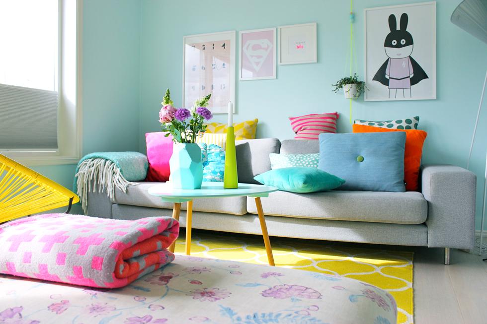 Culori vesele într-un interior scandinav  1