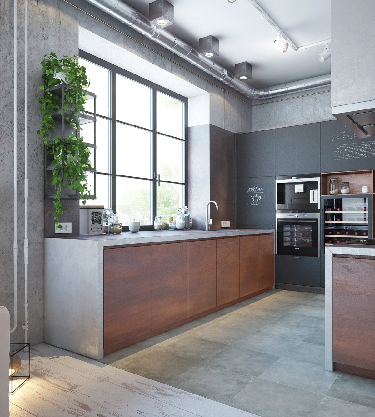 stylish-industrial-themed-kitchen
