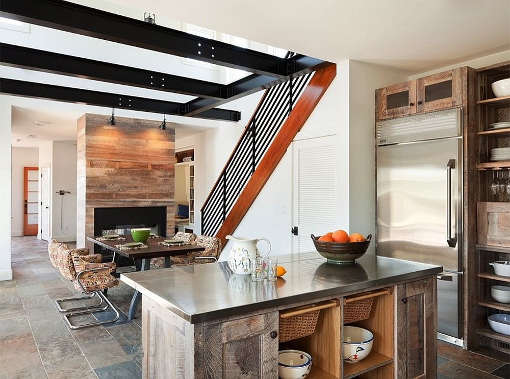 Kitchen-cabinets-and-island-crafted-from-reclaimed-wood