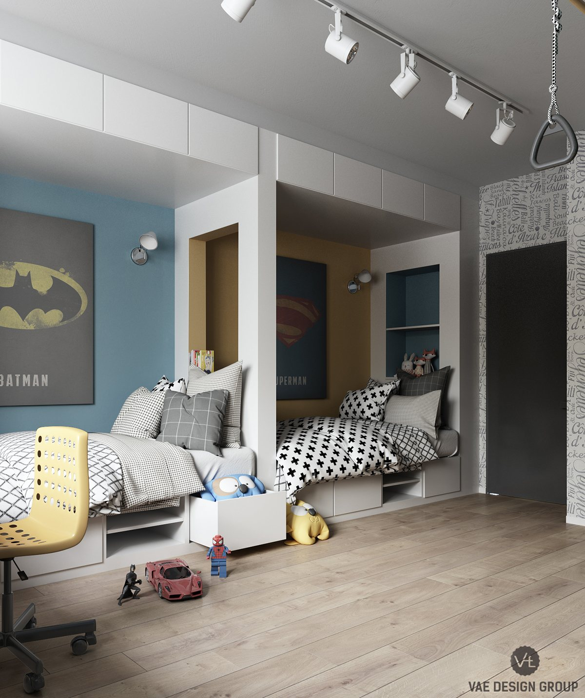 bedroom-layout-for-two-children