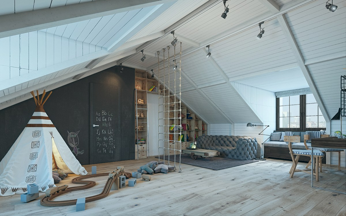converted-loft-kids-bedroom