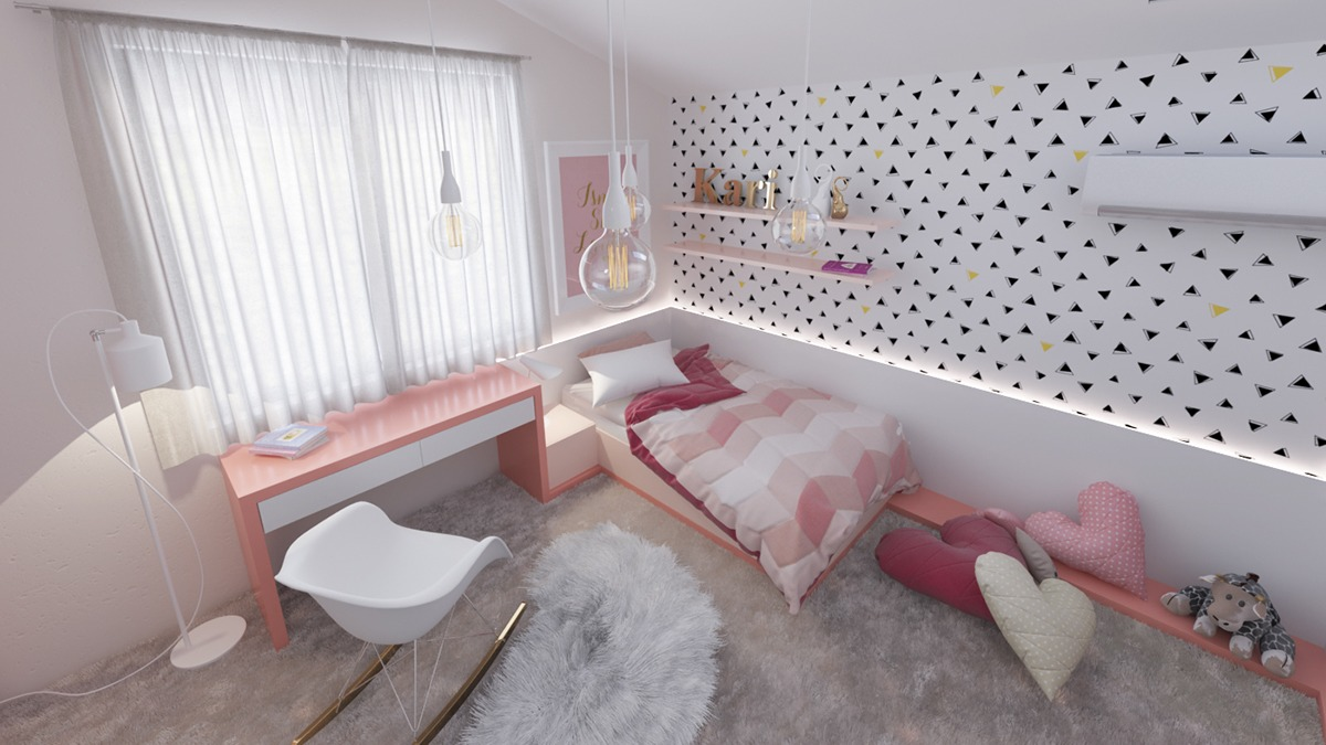 sophisticated-pink-bedroom-for-kids