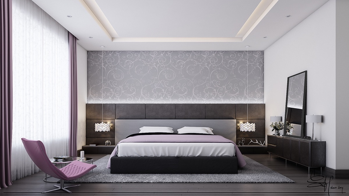 boudoir-theme-bedroom-spiral-wallpaper-violet-and-grey-calm-and-soothing