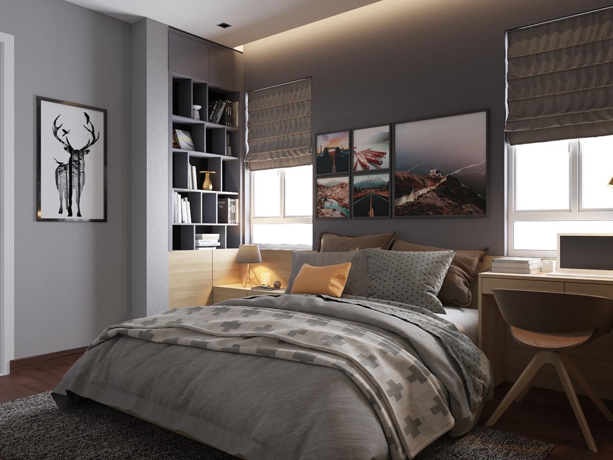 спални в сиво