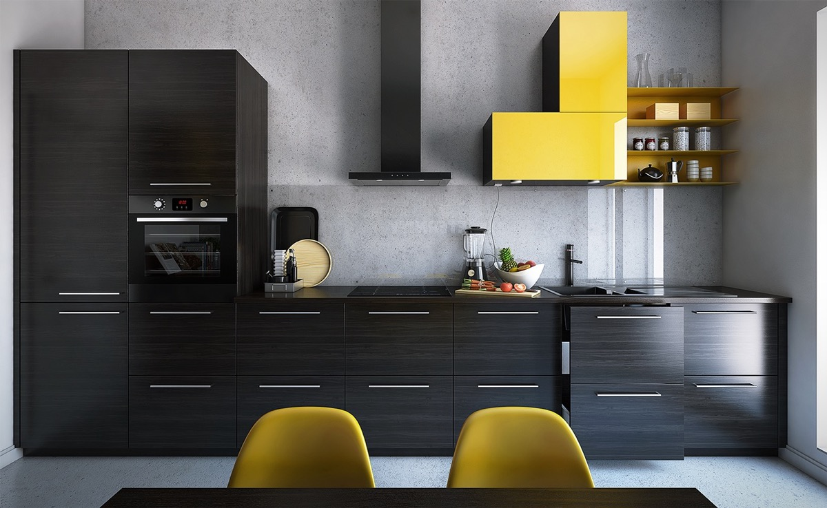 single-yellow-cabinet-in-kitchen