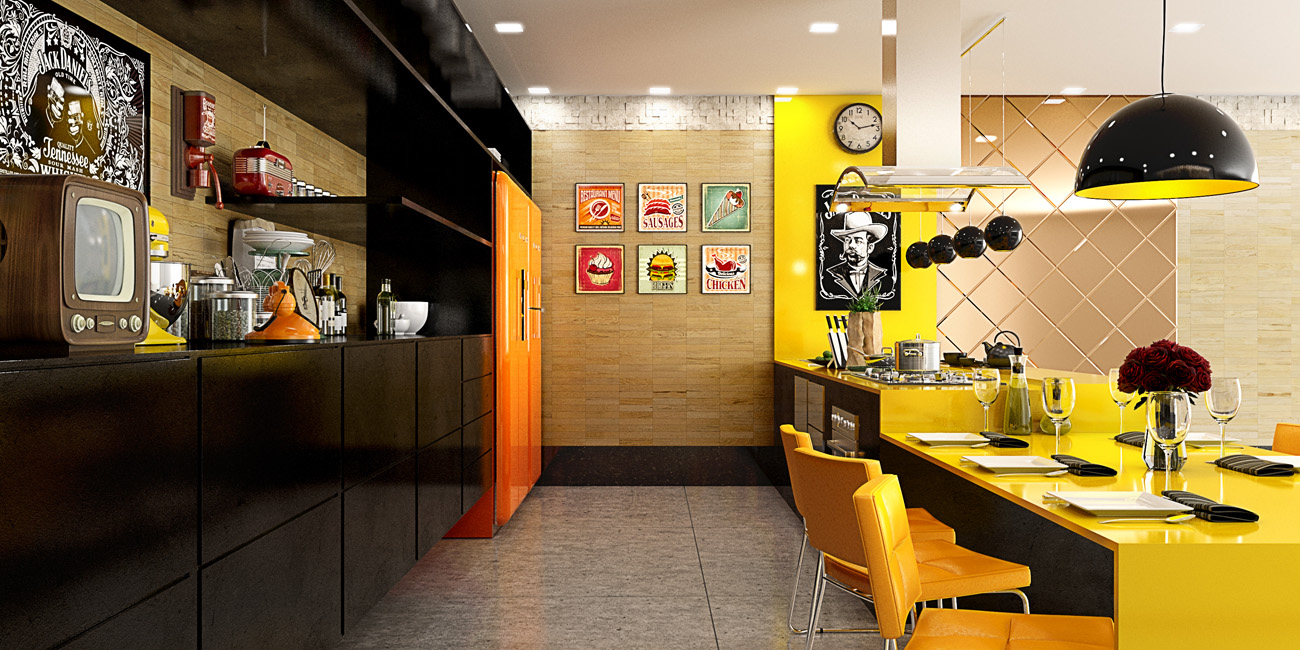 жълти кухни