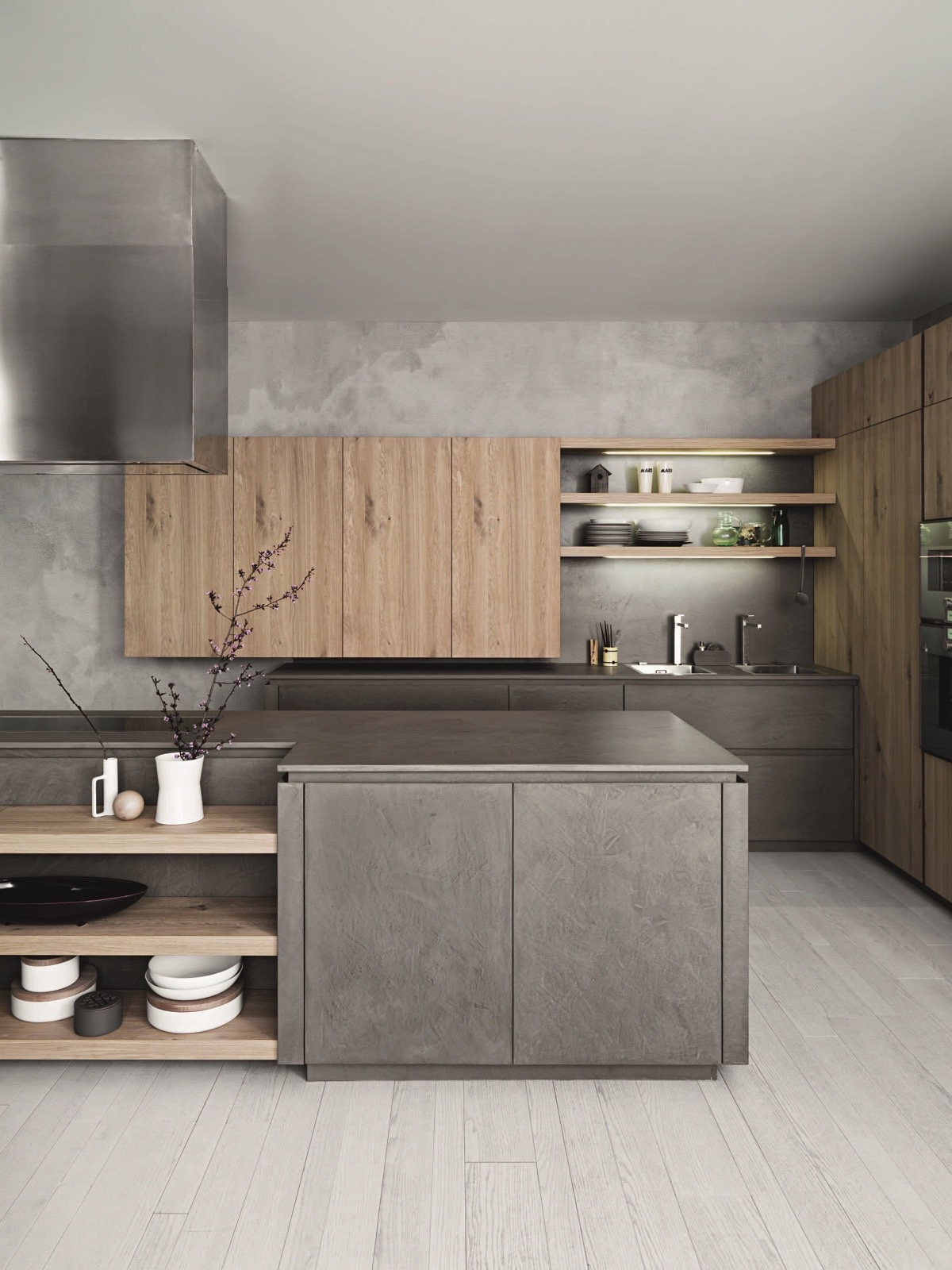 cafe-style-kitchen-steel-and-wood-grey-and-wood
