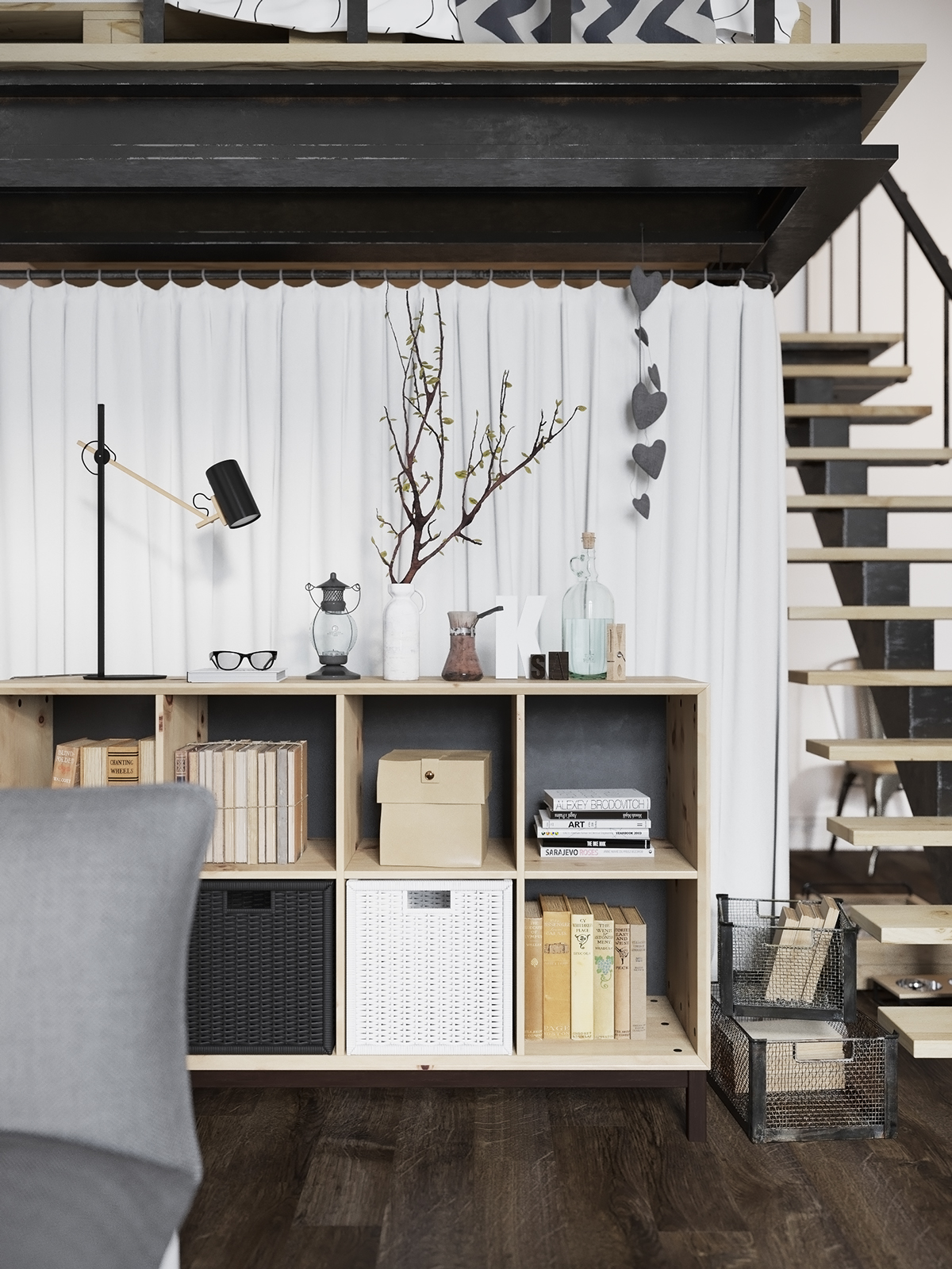 студио в скандинавски стил