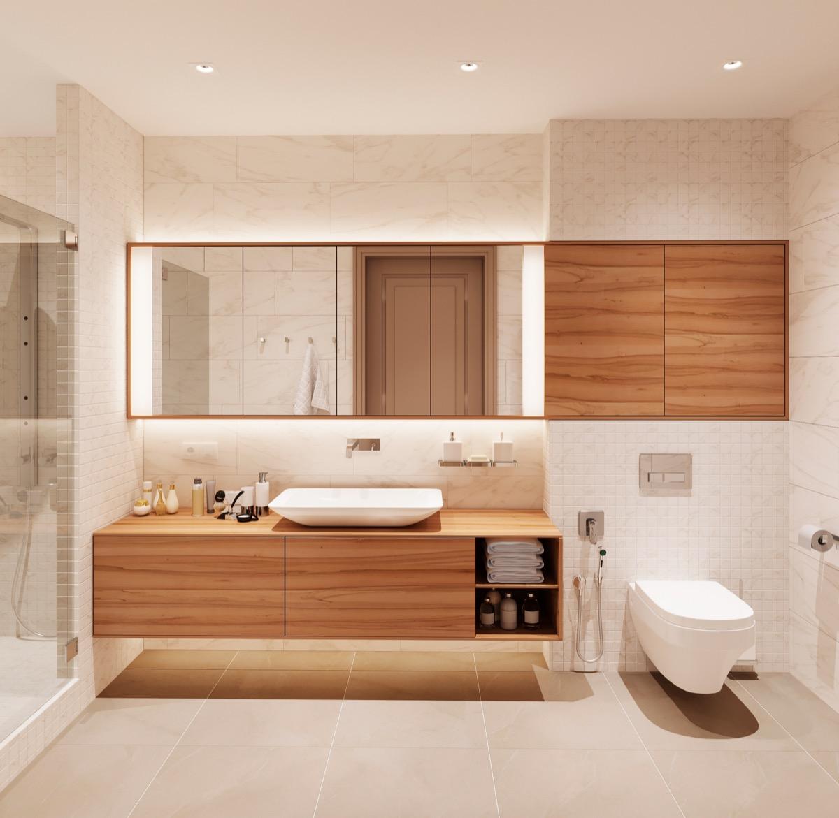 Minimalist modern bathroom for Modern minimalist bathroom